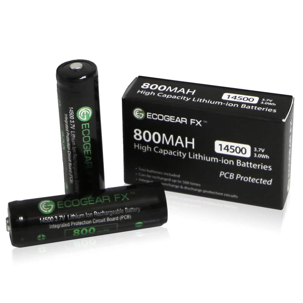 14500 Pcb 800mah Lithium-ion Batteries (2-pieces)