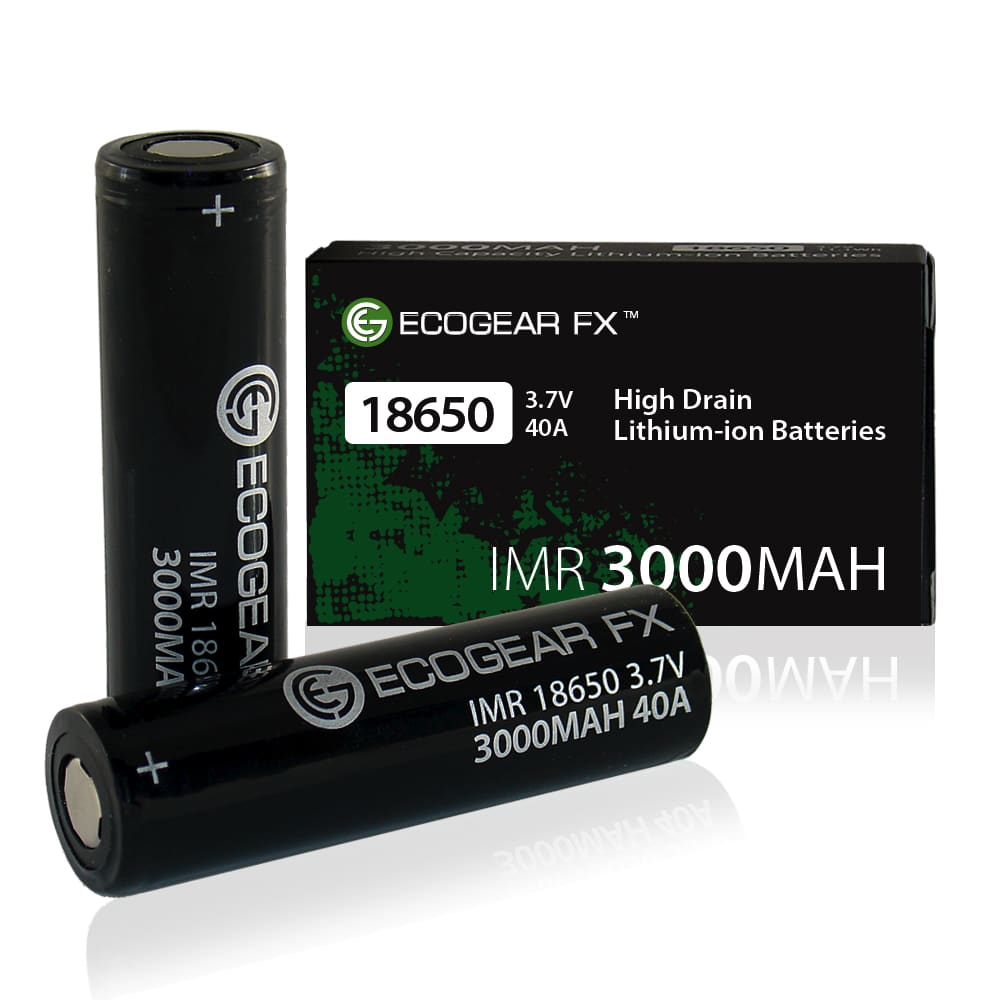 18650 Imr 3000mah High Drain Flat Top Lithium-ion Batteries (2-pieces)