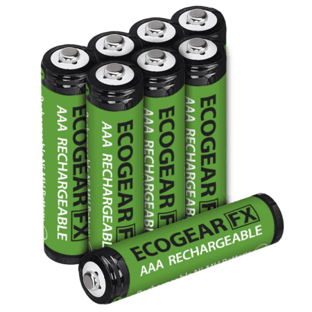 aaa nimh rechargeable batteries 8pack