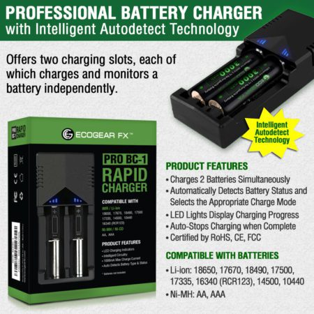 18650 Battery Charger Specs