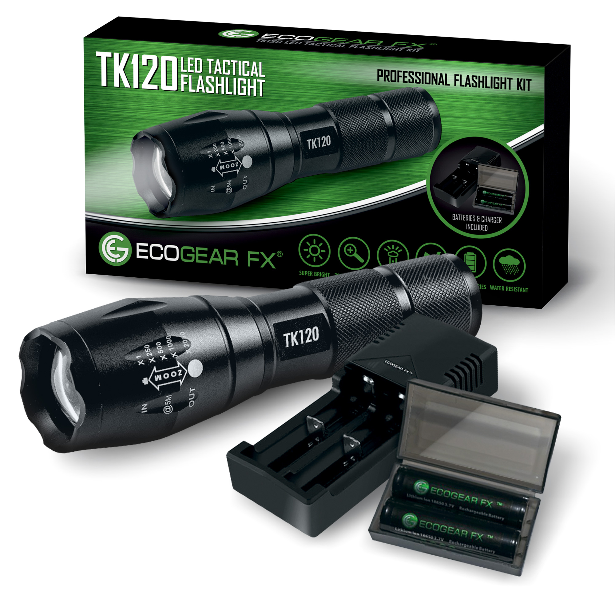 TK120 Complete LED Flashlight Kit