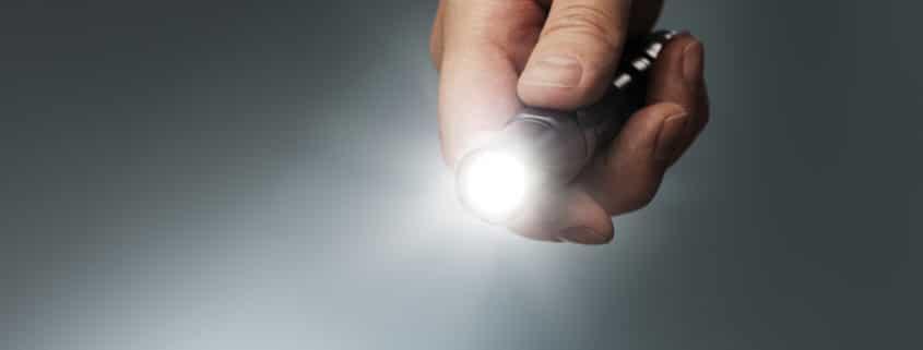 small LED flashlight with strobe