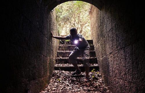 Handheld LED Flashlight With Zoom