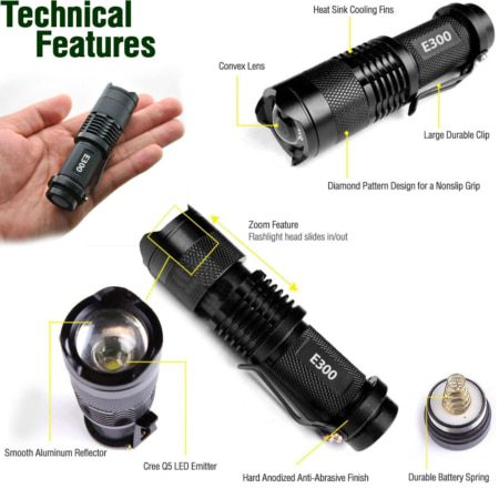 small edc flashlight features
