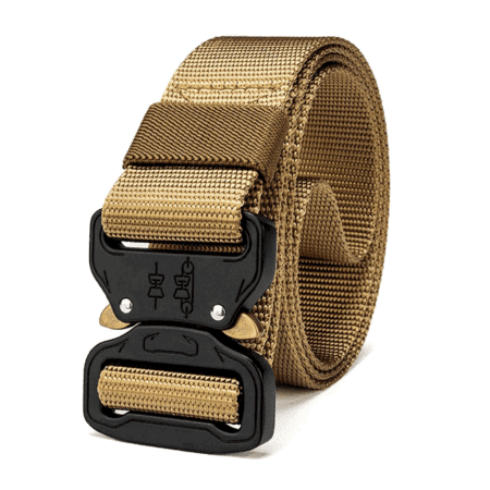 Heavy Duty Tactical Utility Belt Khaki