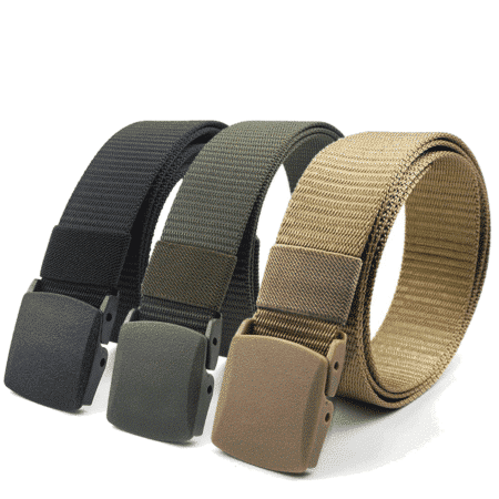 tactical nylon webbing belt