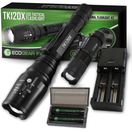 TK120X LED Tactical Flashlight Kit with Holster